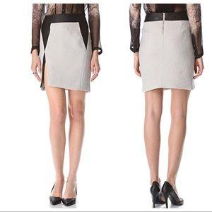HELMUT LANG Leather-Trimmed Mini skirt